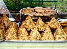 kines stekte pannkakor Arkivfoto