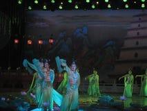 Kines Tang Dynasty Performance Arkivbild
