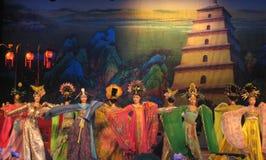 Kines Tang Dynasty Performance Royaltyfria Foton