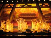 Kines Tang Dynasty Performance Fotografering för Bildbyråer