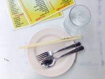 Kines-thailändsk mat Arkivbilder