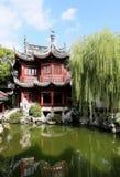 Kines trädgårds- Shanghai Yuyuan Arkivbild
