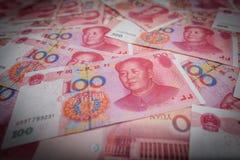 100 kines Yuan Arkivfoto