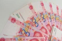 100 kines Yuan Arkivbild