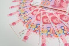 100 kines Yuan Royaltyfria Foton