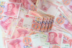 100 kines Yuan Arkivbilder