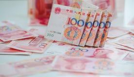 100 kines Yuan Royaltyfria Bilder