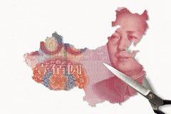 Kines Yuan Map royaltyfri foto