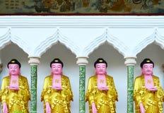 Kinesbuddha bild på den Kek Lok Si templet, Penang, Malaysia arkivbilder