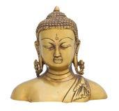 Kinesbuddha skulptur som isoleras över vit bakgrund Royaltyfria Bilder