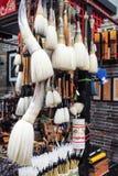 Kinesen borstar, handstil borstar Arkivbilder