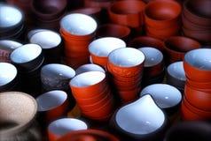 kinesen cups tea Arkivfoton