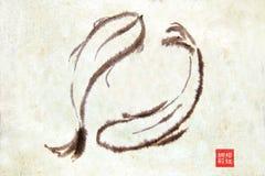 kinesen fiskar stil Arkivbilder