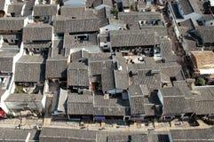 kinesen houses townen arkivbilder
