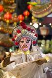 Kinesen maskerar skådespelaredans Fotografering för Bildbyråer