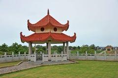Kinesen utformar paviljongen royaltyfri foto