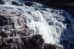 KinesHukou vattenfall som fryser i vinter Arkivbild