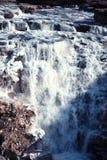 KinesHukou vattenfall som fryser i vinter Fotografering för Bildbyråer