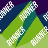 Kinesio taśmy horyzontalny bezszwowy wzór lub tło Sprawność fizyczna biegacza kolorowi elementy, sport etykietka, tkanina Zdjęcie Royalty Free