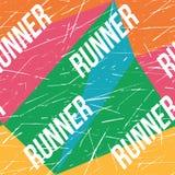 Kinesio taśmy horyzontalny bezszwowy wzór lub tło Sprawność fizyczna biegacza kolorowi Porysowani elementy, sport etykietka, tkan ilustracji