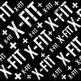 Kinesio tape horizontal seamless pattern or background. Fitness grunge design elements, gym x fit label, sport textile. Fabric vector Royalty Free Stock Image