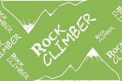 Kinesio tape horizontal seamless pattern or background. Rock climber mountain, sport textile vector Royalty Free Stock Photo