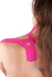 Kinesio tape therapy Royalty Free Stock Image