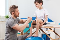 Kinesio taping in pediatrics royalty free stock image