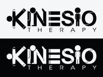 Kinesio terapii logo fotografia stock