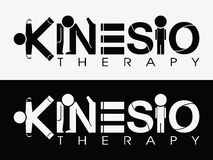 Kinesio-Therapie-Logo stockfotografie