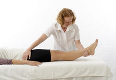 Kinesiologist treating Adductors Stock Image