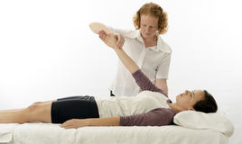 Kinesiologist treating anterior serratus Stock Photography