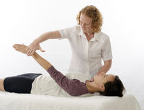 Kinesiologist treating Supraspinatus Stock Images