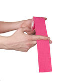 Kinesiotape isolated on white. Stock Images