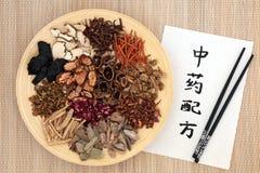 Kinesisk alternativ medicin Arkivfoto