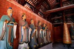 Kinesisk ancioent Konfucius tempel i Guangdong Arkivbilder