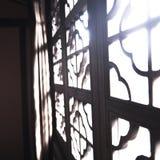 Kinesisk antik fönsterram Royaltyfri Bild