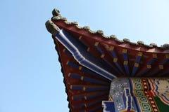 Kinesisk arkitektur i den Longtan dalen i Luoyang Fotografering för Bildbyråer