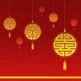 Kinesisk bakgrund för nytt år Royaltyfri Bild