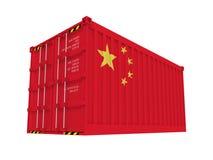 kinesisk behållare vektor illustrationer