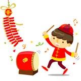 Kinesisk beröm för nytt år Royaltyfri Fotografi
