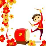 Kinesisk beröm för nytt år Arkivbild