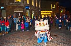 Kinesisk beröm för nytt år i Inverness 2014 Arkivfoto