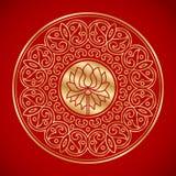 Kinesisk beståndsdel av lotusblomma Arkivfoto