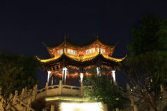 Kinesisk beståndsdelpaviljong Arkivfoto