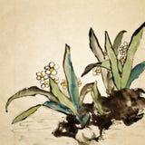 kinesisk blomma royaltyfri illustrationer