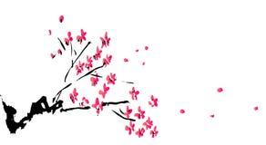 kinesisk blommamålningsplommon stock illustrationer