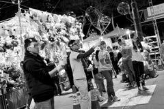 Kinesisk blommamarknad 2014 för nytt år royaltyfria foton