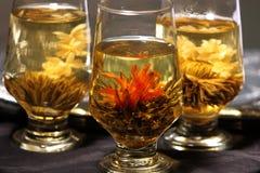 kinesisk blommatea Arkivbild
