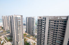 Kinesisk bostads- byggnad Arkivbild